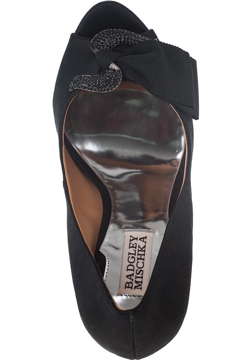 Gylda Evening Pump Black Satin Jildor Shoes