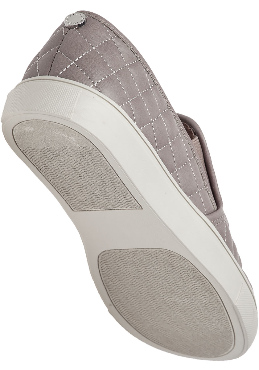 Ecentrcq Grey Quilted Slip On Sneaker Jildor Shoes