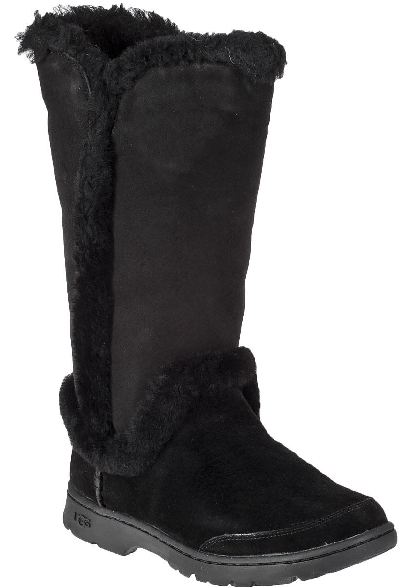 Katia Black Waterproof Suede Boot Jildor Shoes