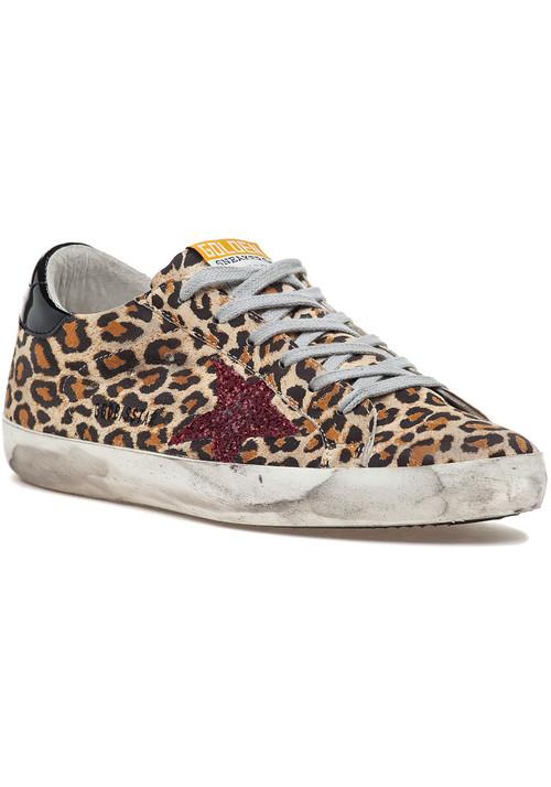 Golden GooseSuperstar Lace Up Sneaker Leopard