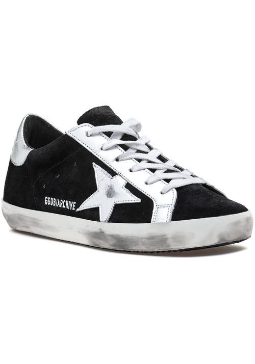 Golden GooseSuperstar Lace Up Sneaker Black