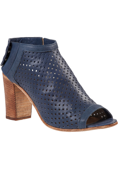 Perforated Bootie Navy Leather 37-22944