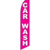 Car Wash (White/Pink) Feather Flag