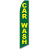 Car Wash (Yellow/Green) Feather Flag