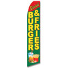Burgers & Fries Feather Flag