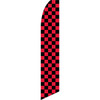 Black and Red Checkered Feather Flag