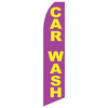 Car Wash (Purple/Gold) Feather Flag