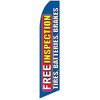 Free Inspection (Tires, Batteries, Brakes) Feather Flag