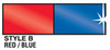 Metallic Red / Blue  Pennant