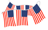USA Stars and Stripes String Pennant