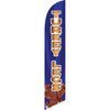 Turkey Legs (blue background, gold letters) Semi Custom Feather Flag Kit