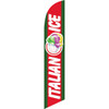 Italian Ice (red and green background) Semi Custom Feather Flag Kit