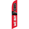 We Buy Cars (red background) Semi Custom Feather Flag Kit