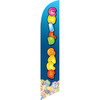 Child Care Blue Background Semi Custom Feather Flag Kit