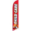 Child Care (red background) Semi Custom Feather Flag Kit