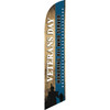 Veterans Day (Black Letters) Semi Custom Feather Flag Kit