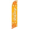 Now Leasing (orange background) Semi Custom Feather Flag Kit