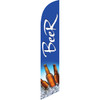 Beer (blue background) Semi Custom Feather Flag Kit