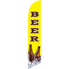 Beer (yellow background) Semi Custom Feather Flag Kit