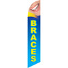Braces (blue background) Semi Custom Feather Flag Kit