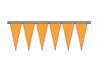 Orange Regular Icicle Pennants