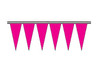 Flame Pink Fluorescent Icicle Pennants