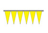Saturn Yellow Fluorescent Icicle Pennants