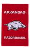 University of Arkansas Appliqued Garden Flag (new)