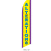 Alterations Feather Flag yellow