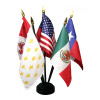 Six Flags Of Texas Stick Flag Set with Base
