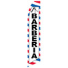Barber (Spanish) Feather Flag red white blue