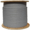 Gray/Silver Wire Center Rope Spool