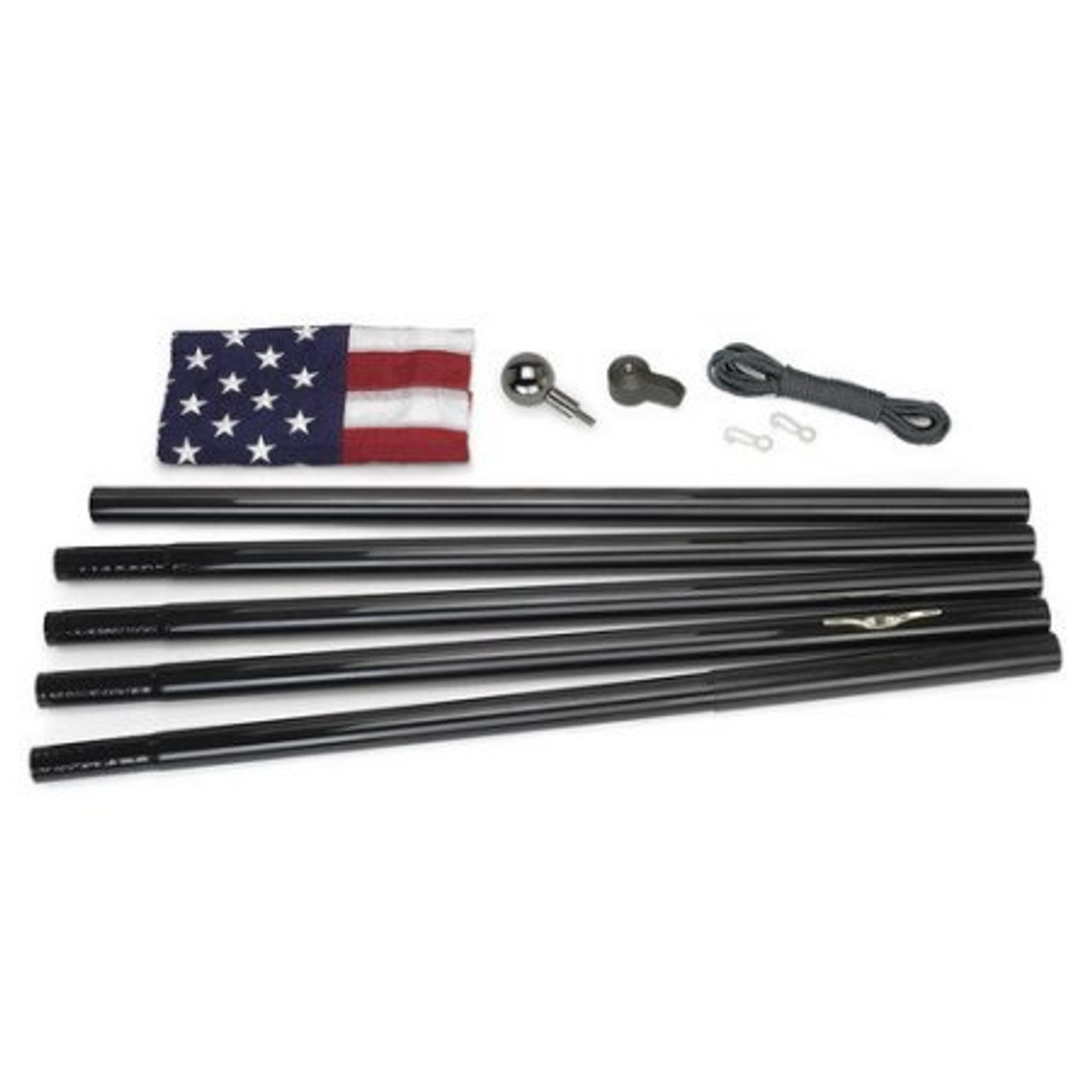 18' All American Black Flagpole
