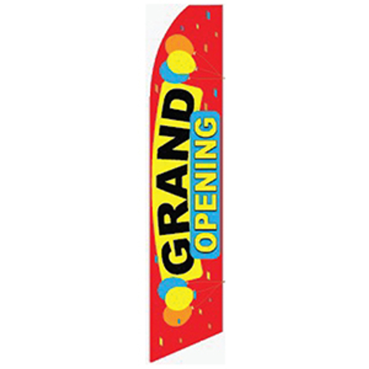 Grand Opening - Balloons - Feather Flag