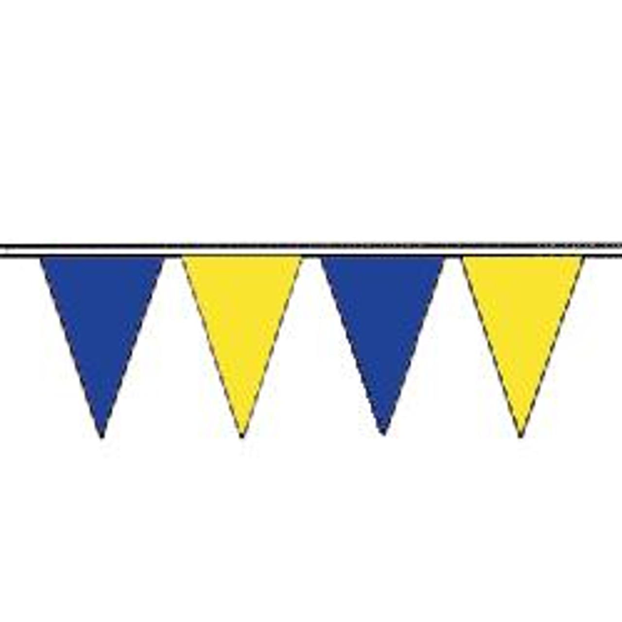 Blue and Yellow string pennant