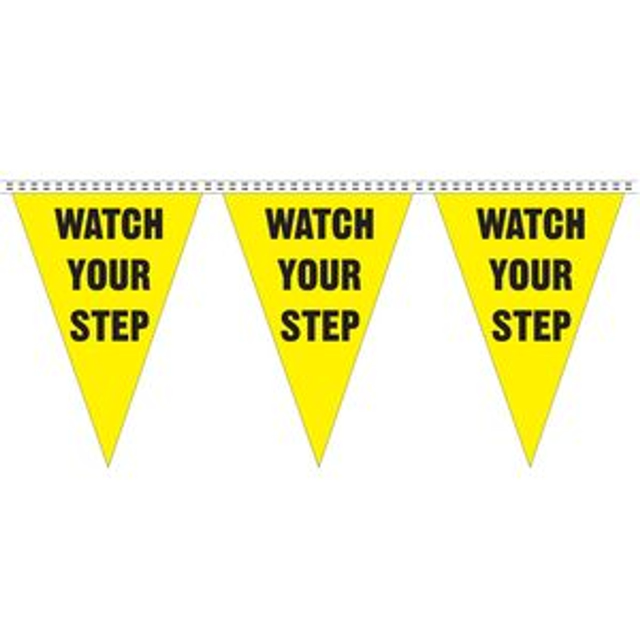 """Watch Your Step"" String Pennants"