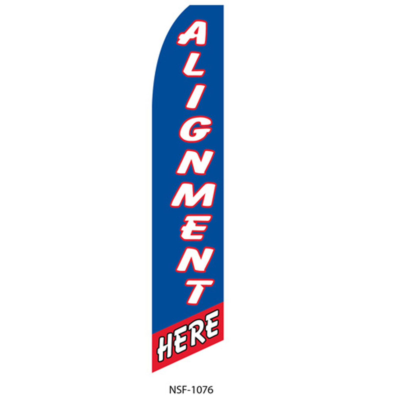 Alignment Here Feather Flag