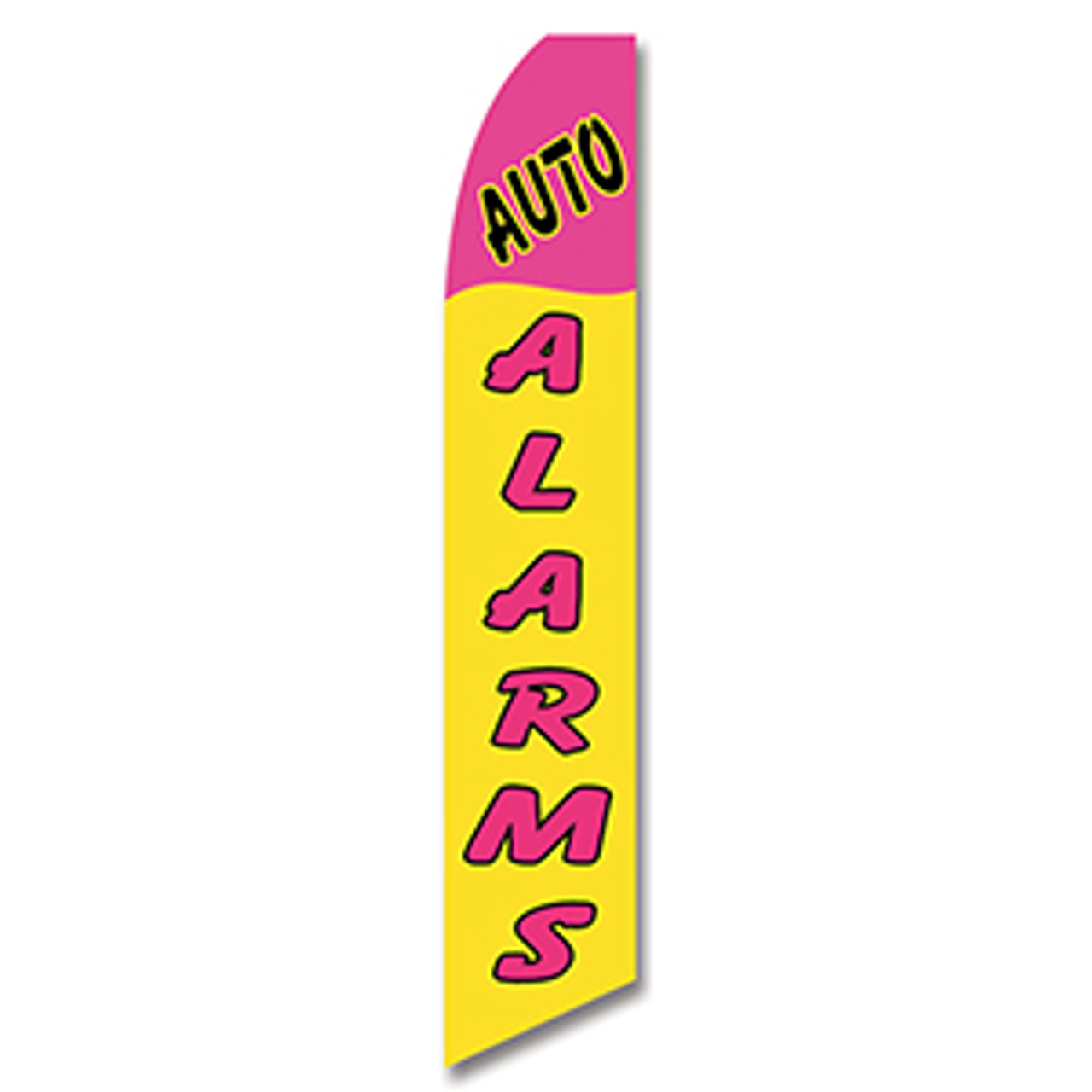 Auto Alarms Feather Flag