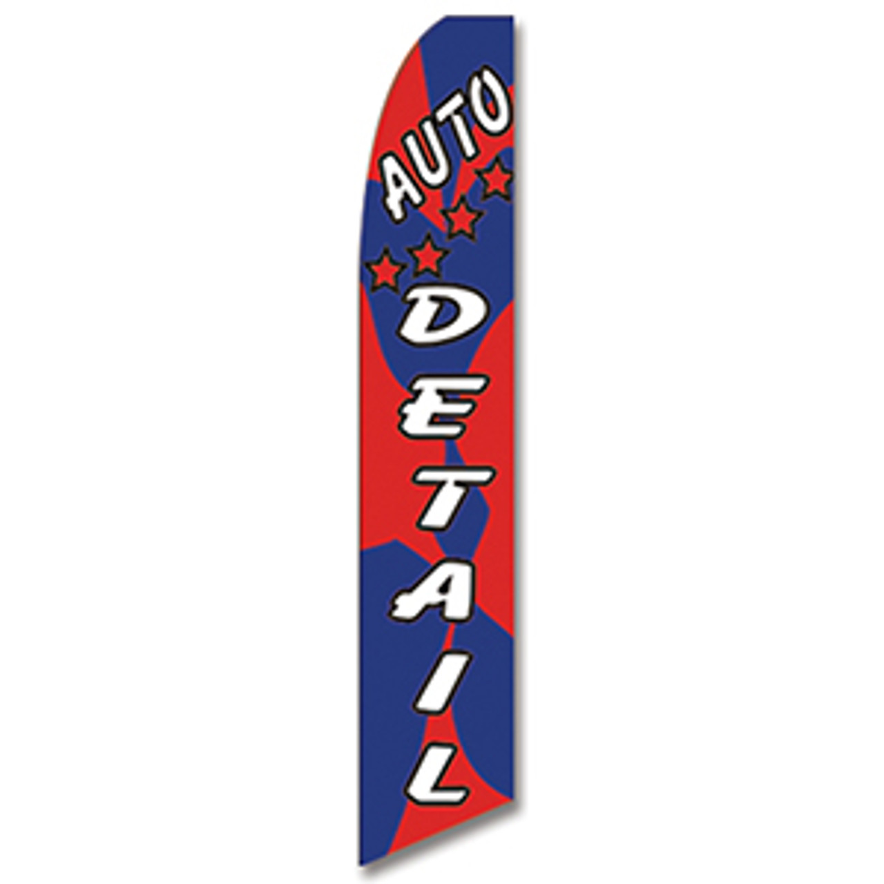 Auto Detail - Red and Blue - Feather Flag
