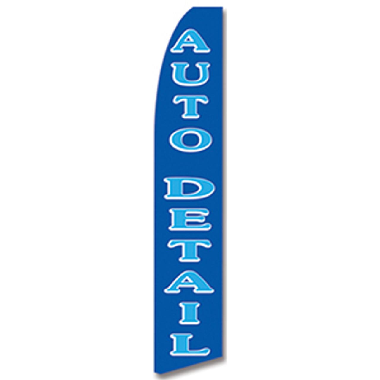 Auto Detail - Blue  -Feather Flag
