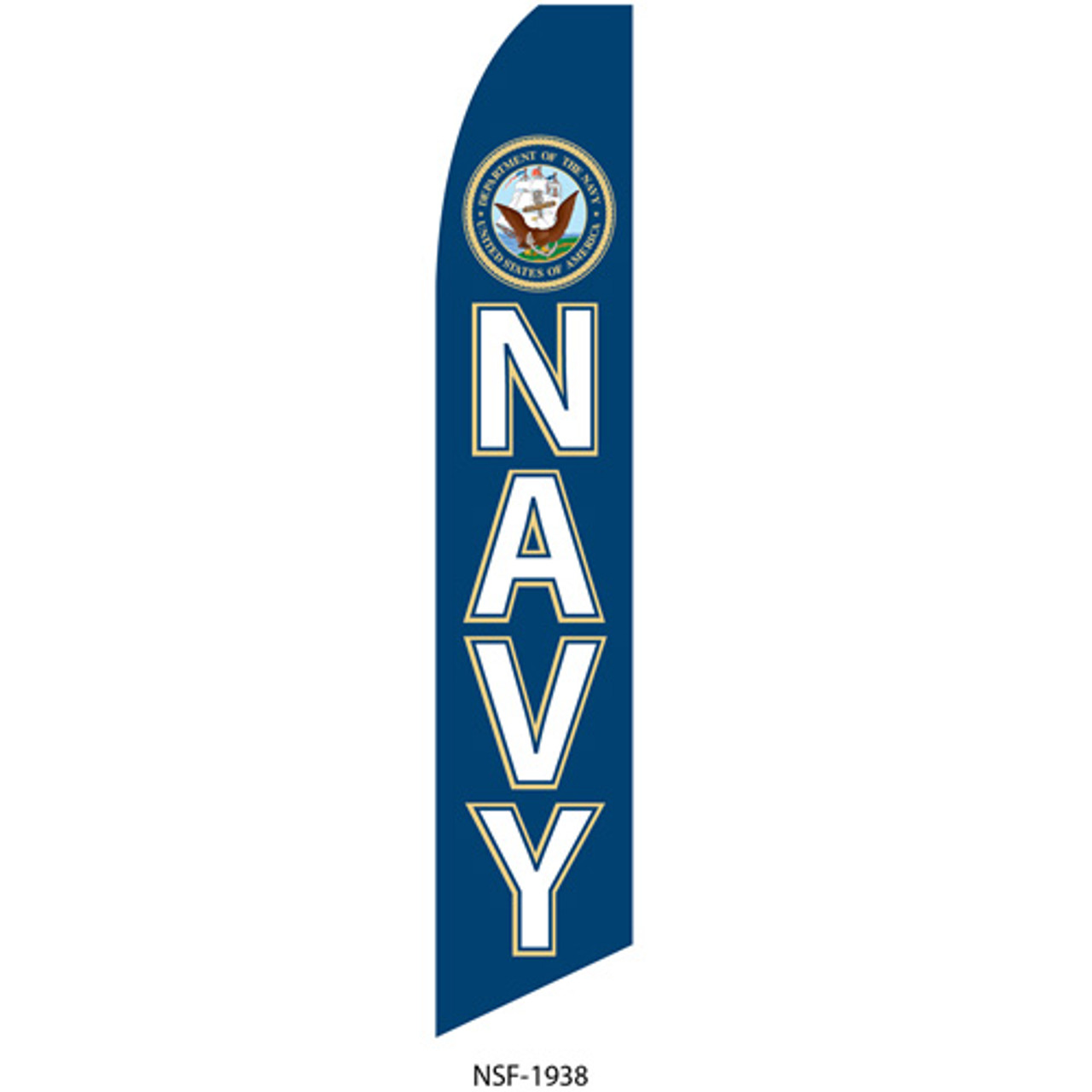 Navy Feather Flag