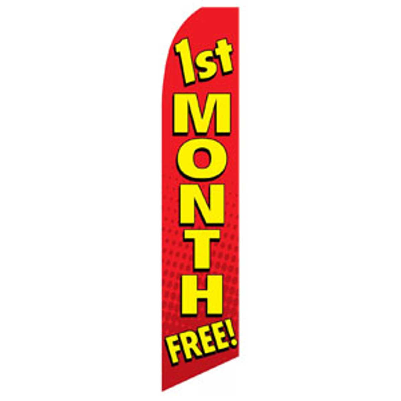 First Month Free Feather Flag