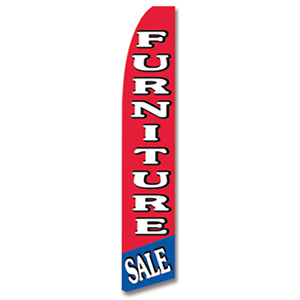 Furniture Sale - Red, White, and Blue - Feather Flag