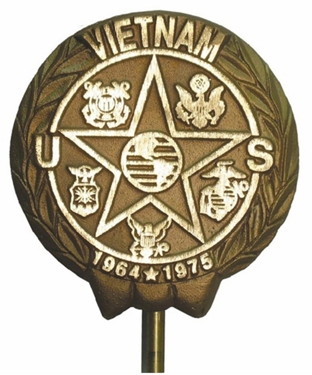 Vietnam Veteran Grave Marker--Cast Bronze