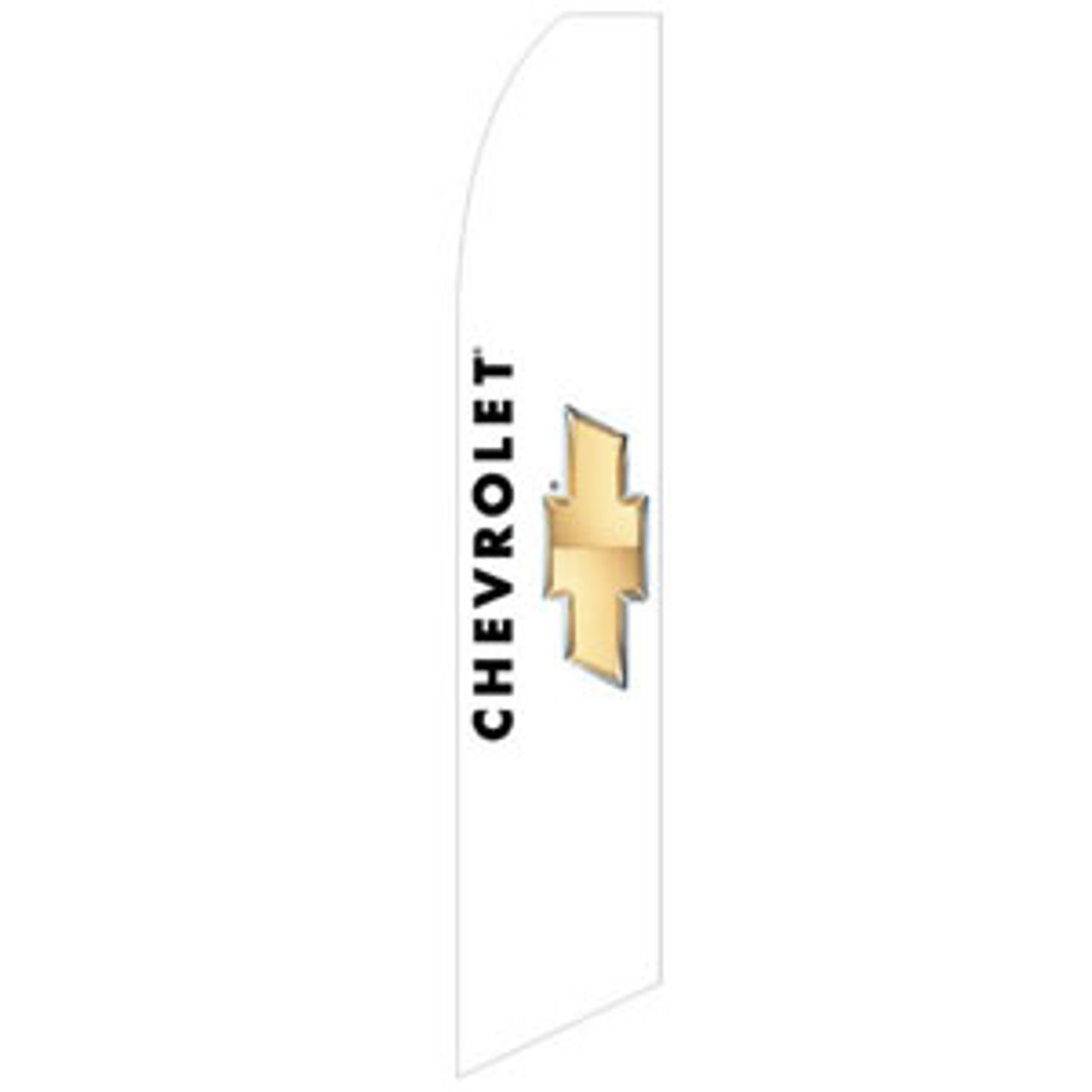 Chevrolet Dealership Feather Flag White