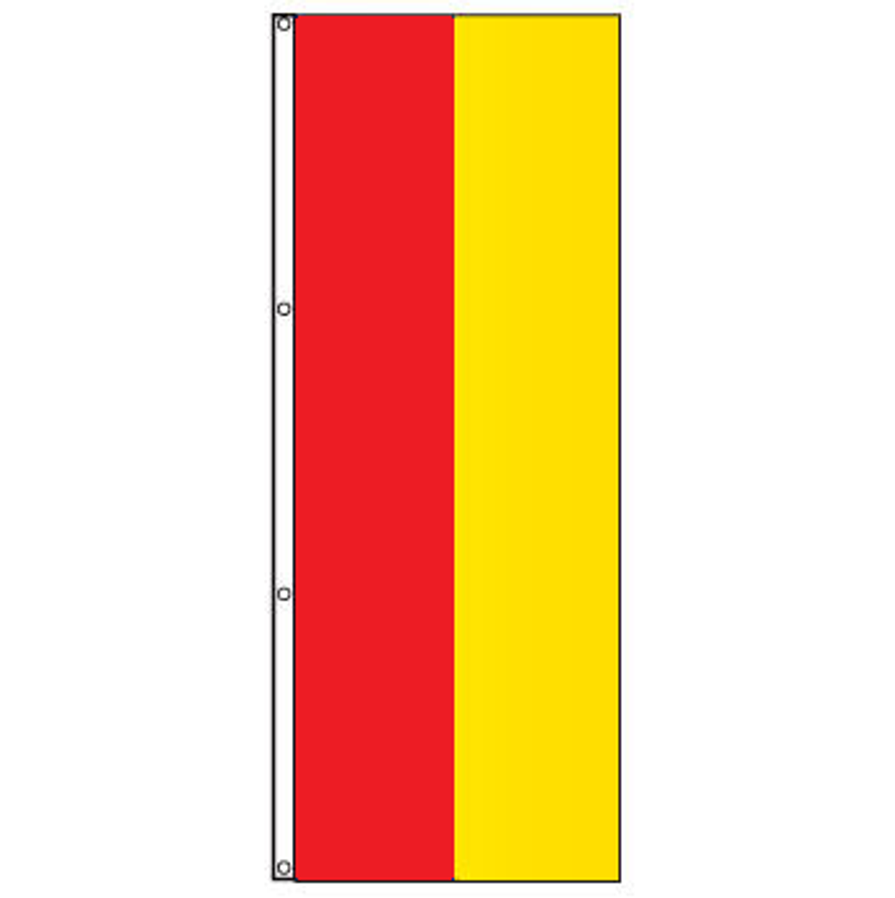 Attention 2-Stripe Solid Color Vertical Tall Flag