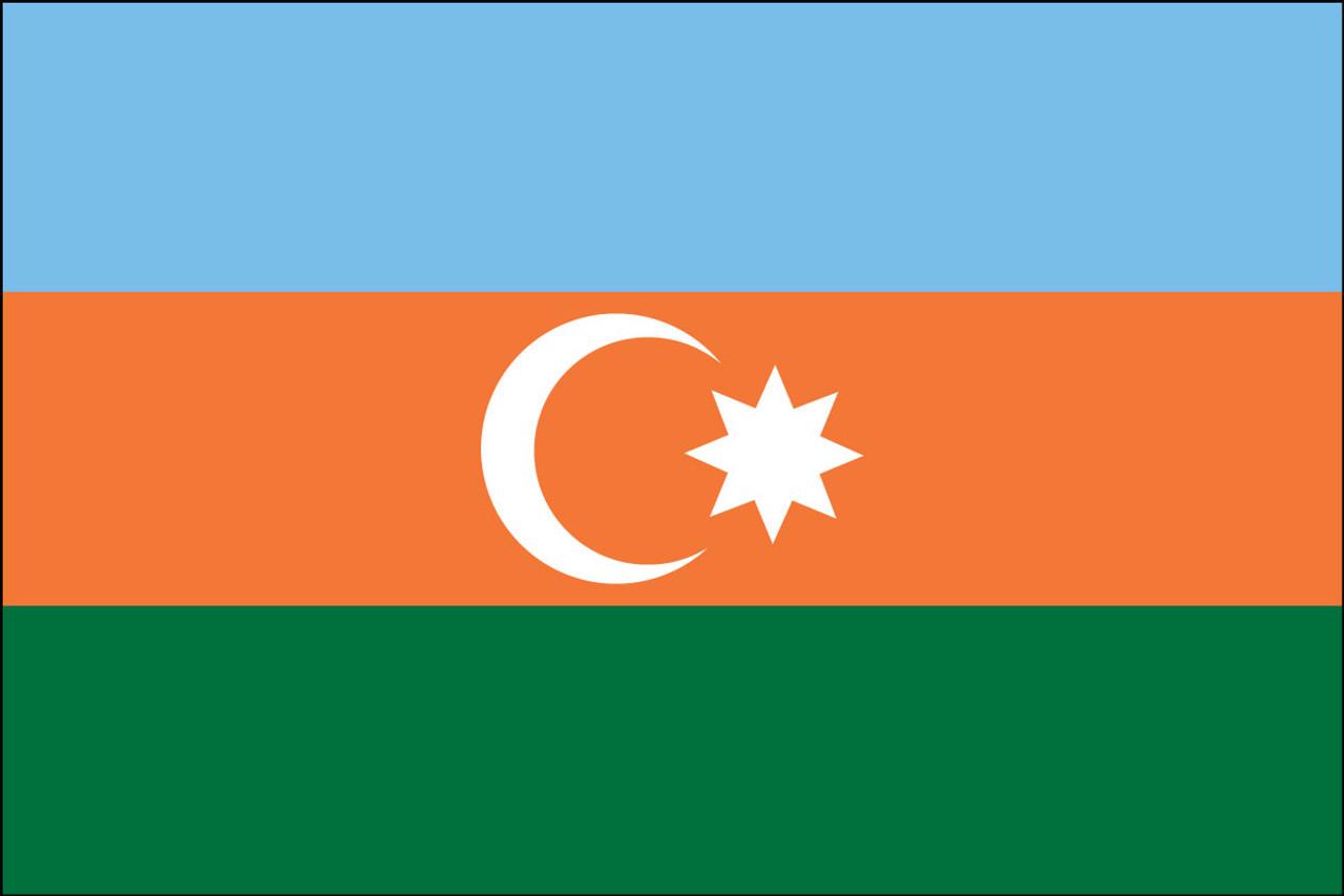 "Azerbaijan - 4"" x 6"" Minature Stick Flags"