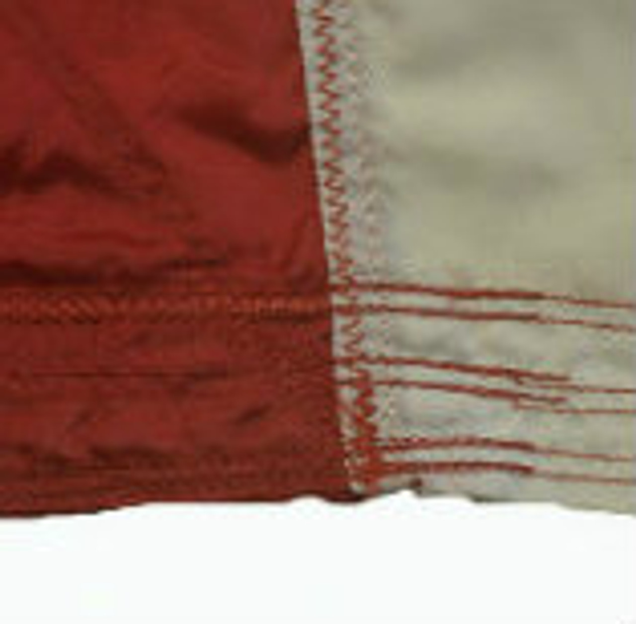 All fly end seams are back stitched. This helps to prevent tearing.