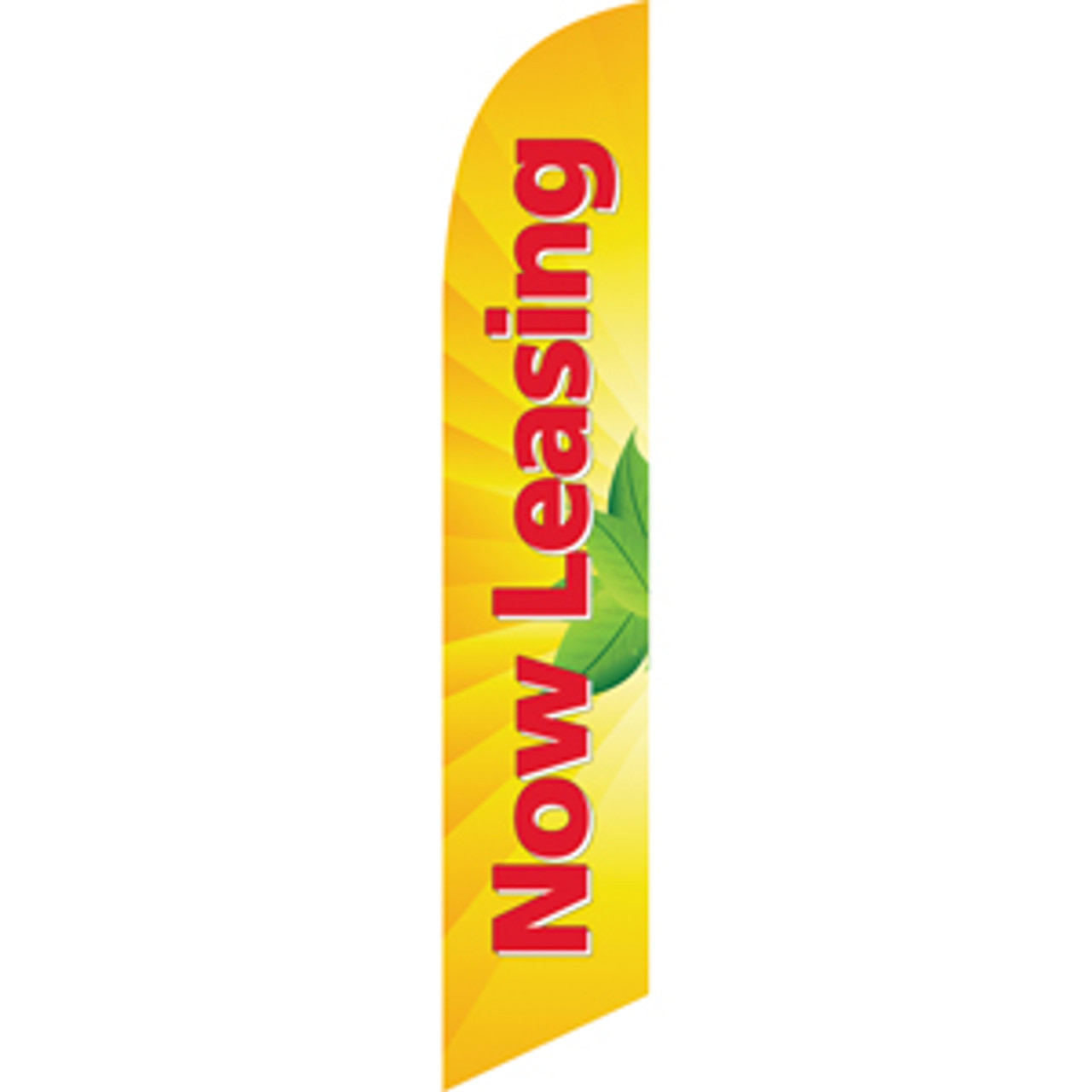 Now Leasing (yellow background) Semi Custom Feather Flag Kit
