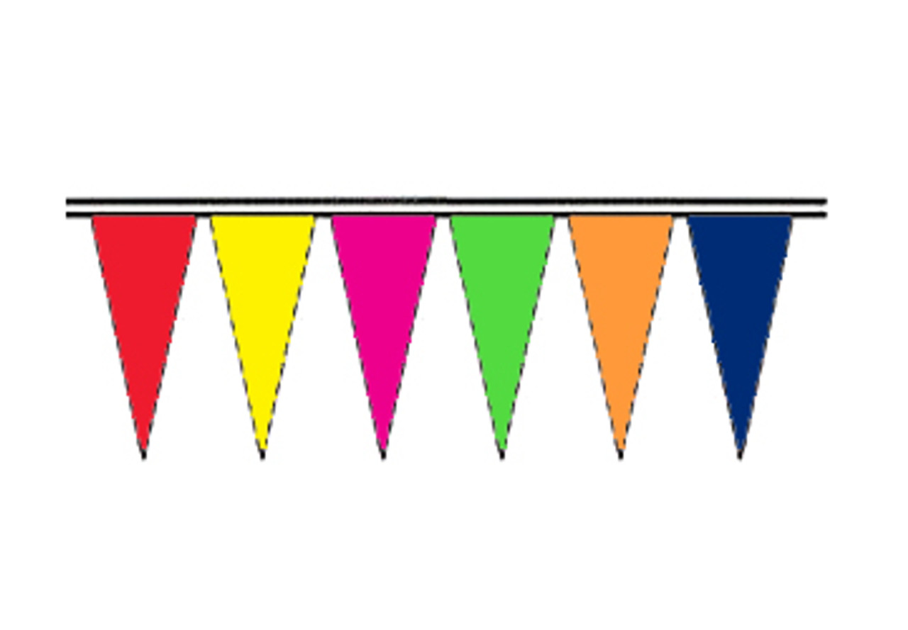 Alternating Colors Fluorescent Icicle Pennants